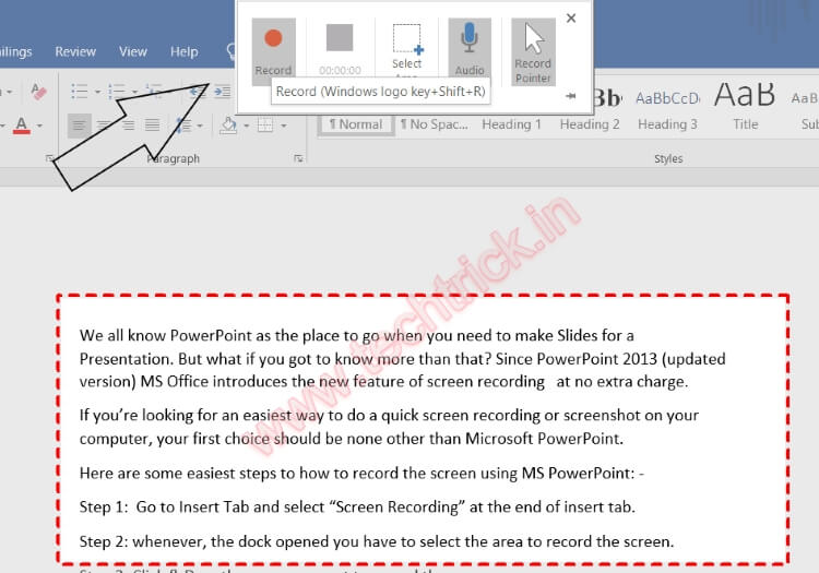 How To Record Windows 10 Screen Using Microsoft Powerpoint