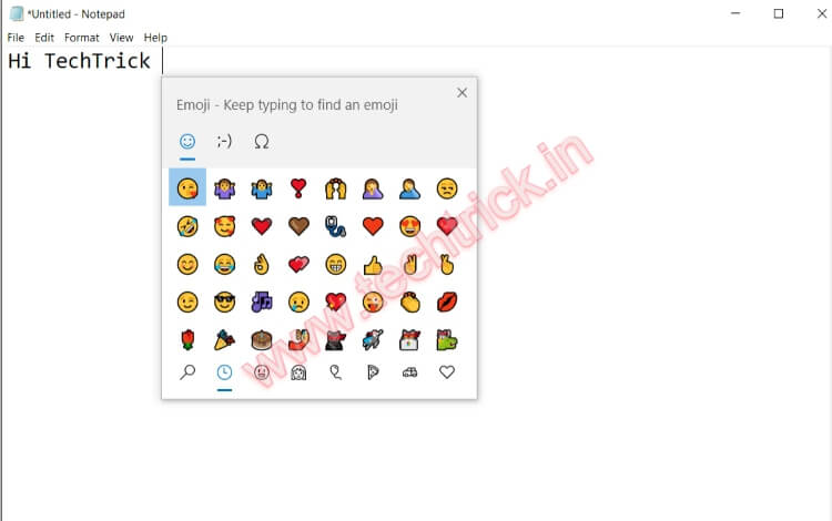 How To Open The Hidden Emoji Picker in Windows 10