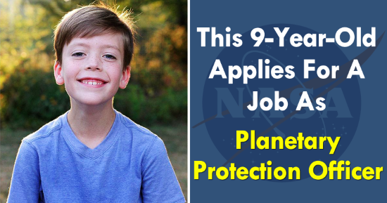 A 9-Year-Old Applies For A Job As Planetary Protection Officer