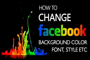 Change Facebook Text Color Background Color Font Style
