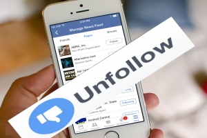 Unfollow all friends on Facebook at once click