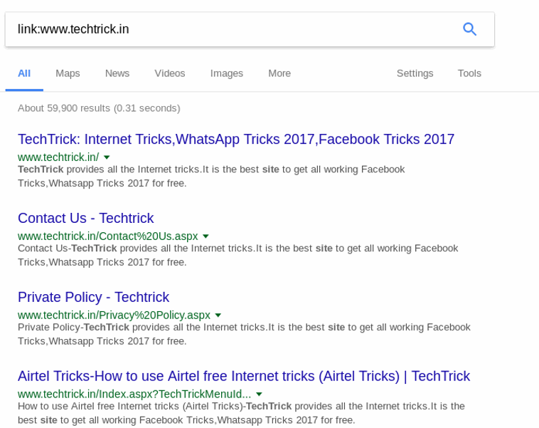 Advanced Search Technique Using Google Dork