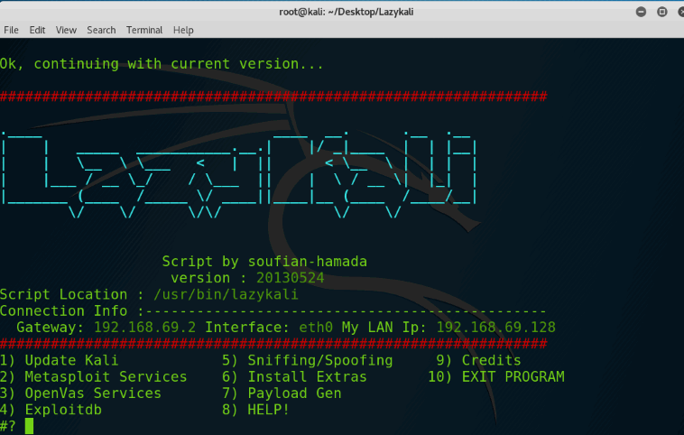 Install Collect Lazy Kali Tool on Kali Linux rolling