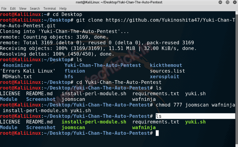 Automated Penetration Testing and Auditing Tool - Yuki Chan