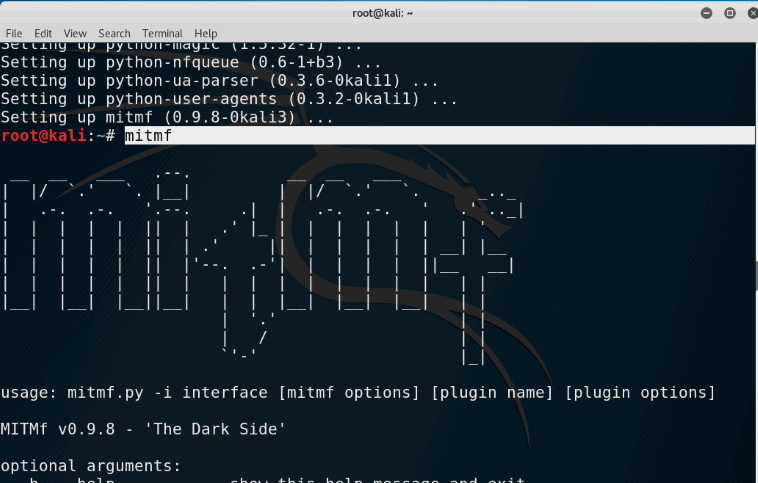 Install MITMf Framework in kali linux for Man In The Middle attacks