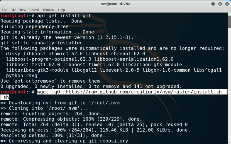 Web Hacking Lab Setup using DVNA in Kali Linux