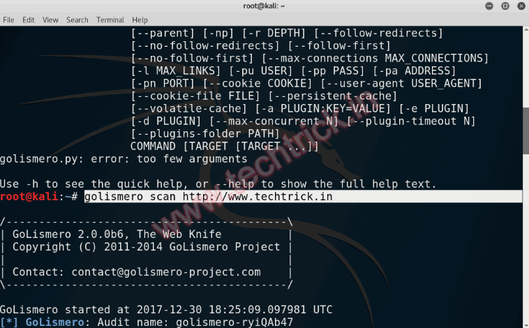 How to scan website,Vulnerability Scanning,WEB Server - Golismero