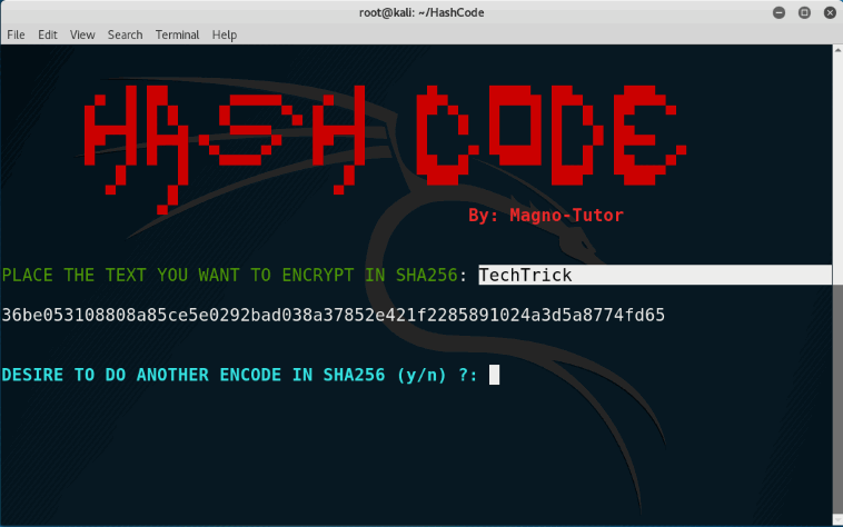 Encrypt/Decrypt Your Passwords on Kali Linux