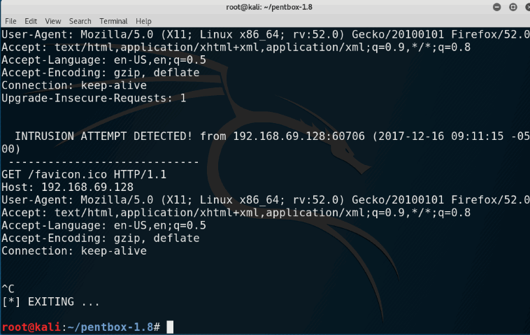 Configure Honeypot using PentBox in Kali Linux