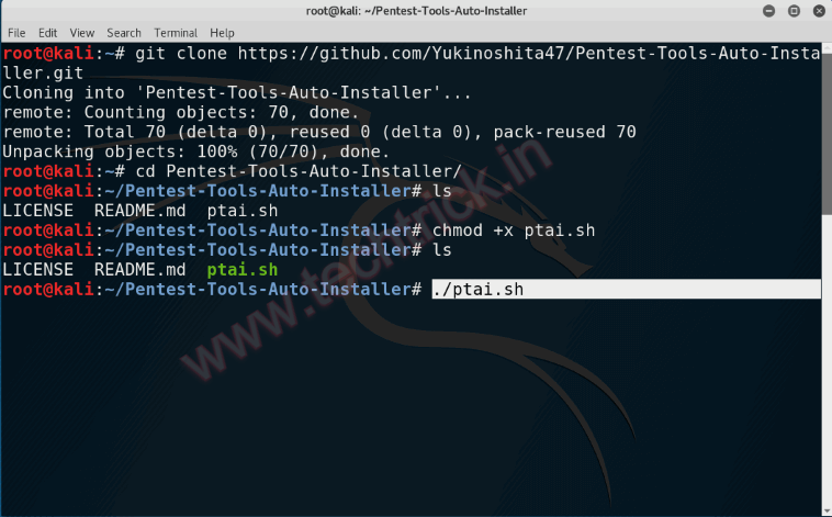 Automatic Pentest Tool Installer For Kali Linux
