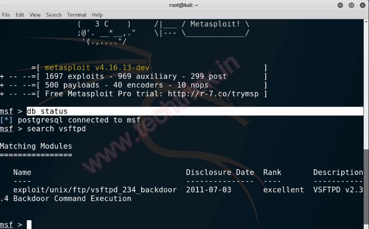 Hacking FTP Server using Kali Linux (vsftpd Vulnerability)