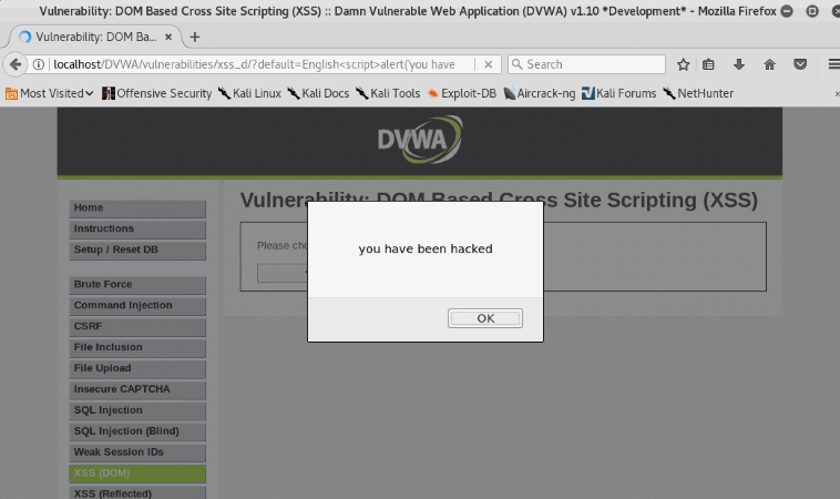 XSS Exploitation in DVWA (Bypass All Security)