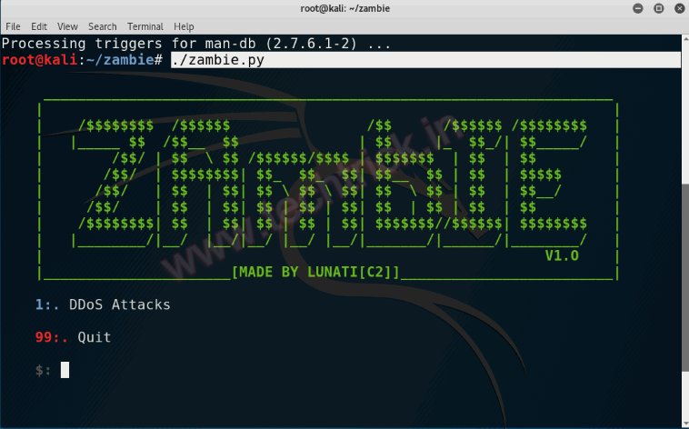 The Best DoS Attack Toolkit - ZAmbIE | Kali Linux