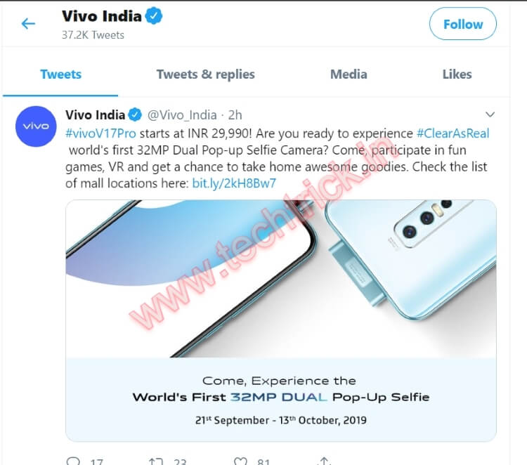 Vivo V17 Pro Featuring Dual Pop-up Selfie Camera Launched