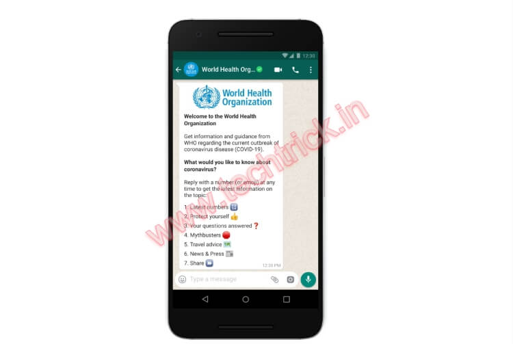 The World Health Organization launches WHO Health Alert on WhatsApp