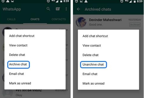 How To Hide Whatsapp chat on Android