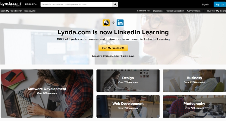Top 5 Best Paid Websites To Learn Programming Lynda